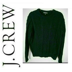 J.Crew Mercantile Fisherman Cable Crewneck Sweater